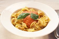 Free Plate Of Bolognese Tortelloni Stock Images - 16077874