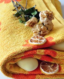 Soap And Towel Royalty Free Stock Photography