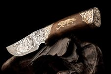 Free Ornamental Hunting Knife. Royalty Free Stock Photo - 16078085