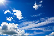 Free Cumulus Clouds In Blue Sky Royalty Free Stock Images - 16078129