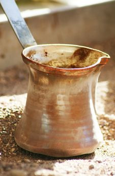 Free Turkish Coffee Pot On The Sand Stock Photos - 16078233