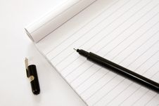 Free Block Note And Pen Royalty Free Stock Image - 16078966