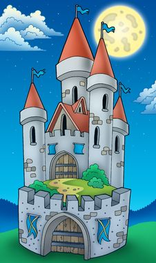 Free Night View On Tall Castle Royalty Free Stock Photo - 16079555