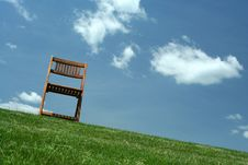Free Wooden Chair On A Hilltop Stock Images - 16079954