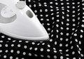 Free Ironing Delicate Polka Fabric Stock Photo - 16082230
