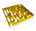 Free Gold Maze Royalty Free Stock Photo - 16086165