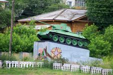 Free Soviet Tank. T 34 Stock Image - 16080681