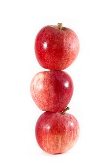 Free Three Gala Apples Balanced On Each Other Royalty Free Stock Photo - 16080735