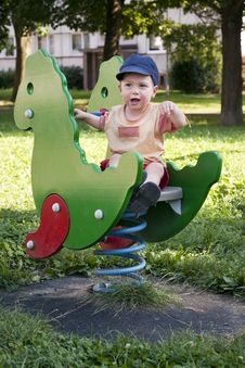 Free Child In Playground Royalty Free Stock Photo - 16080795