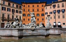 Navona Square In Rome Stock Photos