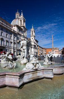 Free Fontana Dei Quattro Fiumi Stock Photography - 16082002