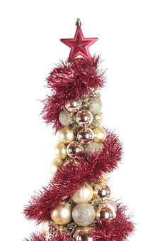Free Christmas Decorations Over White Royalty Free Stock Image - 16082026