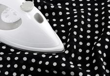 Free Ironing Delicate Polka Fabric Stock Photo - 16082230