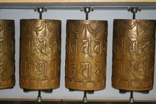 Free Buddhist Prayer Wheels Royalty Free Stock Image - 16082266
