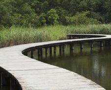 Free Bridge On The River, Long Road Stock Photo - 16082300