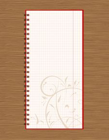 Free Notebook Open Page Design On Wooden Background Stock Image - 16082891