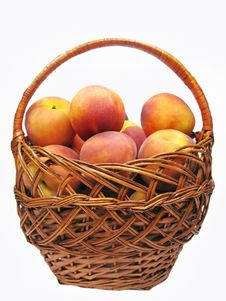 Free Basket Full Of Peaches Fruit Stock Photo - 16083170