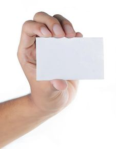 Gesture Of Hand Giving Card Stock Photos