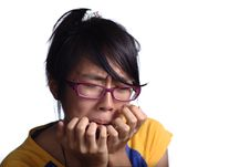 Free Crying Asian Female Teenager Stock Image - 16083901