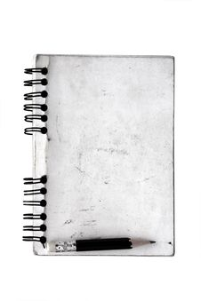 Free Dirty Old Spiral Notepad Royalty Free Stock Image - 16084246