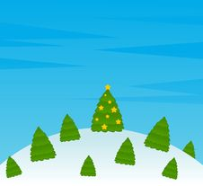 Free Cartoon Funny Fir-trees Stock Images - 16084414