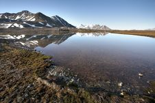 Free Arctic Summer Landscape - Mountains And Tundra Stock Image - 16084461