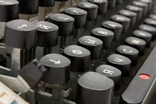 Free Old Typing Device Stock Photography - 16084942