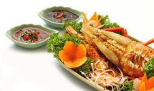 Free Thai Style Golden River Prawn Royalty Free Stock Photos - 16084968