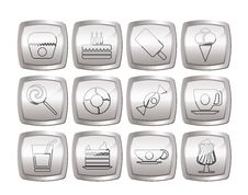 Free Sweet Food And Confectionery Icons Stock Photos - 16085343