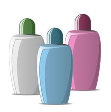 Free Set Of Colored Cosmetic Bottles Royalty Free Stock Photo - 16085385