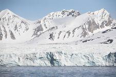 Free Arctic Glacier Landscape (Spitsbergen) Stock Image - 16085461