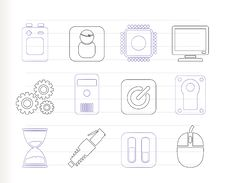 Free Computer And Mobile Phone Elements Icon Stock Images - 16085464