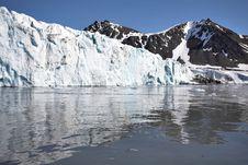 Free Arctic Glacier Landscape (Spitsbergen) Stock Image - 16085591
