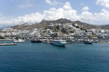 Picturesque Port, Paros, Greece Royalty Free Stock Photography
