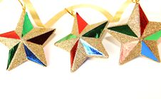 Free Christmas Stars Decoration Royalty Free Stock Photos - 16087578
