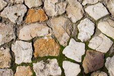 Texture Of Gray Stones Royalty Free Stock Photos
