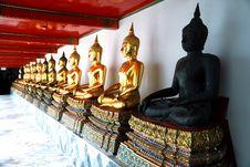 Golden Buddha At Wat Pho Bangkok Thailand Stock Image