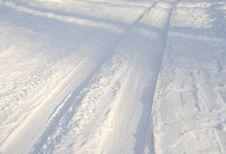 Free Ski Track Stock Photo - 16088620