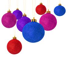 Multi Colored Christmas Balls Stock Photography