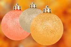 Free Three Christmas Balls Royalty Free Stock Image - 16089016