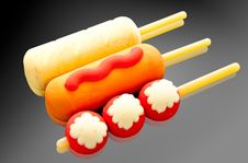 Free Sausage And Fish Ball Stock Images - 16089074