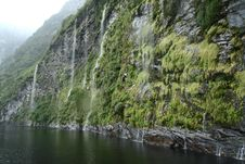 Free Waterfall Of Milford Sound, New Zealand Royalty Free Stock Photos - 16089838