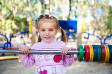 Free Four-year-old Girl And Her Abacus Royalty Free Stock Images - 16089939