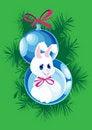 Free Two Christmas Ball And Bunny Royalty Free Stock Image - 16092366