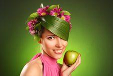 Beautiful Spring-woman Stock Image