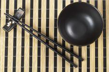Free Bowl And Chopsticks Royalty Free Stock Images - 16090519