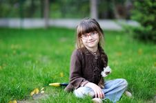 Free Adorable Little Girl With Beauty Blue Eyes In Glas Stock Photography - 16090542