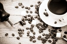 Free Coffee And Grinder Royalty Free Stock Images - 16091949