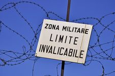 Free Keep Out Sign Of Military Area Stock Photography - 16092512