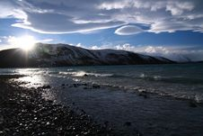 Lake Tekapo In Winter Royalty Free Stock Photo